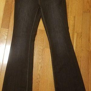 White House Black Market Black Flared Jeans Size 0
